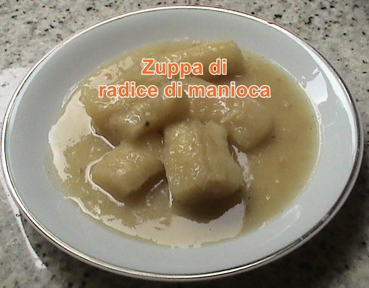 Zuppa di radice di manioca